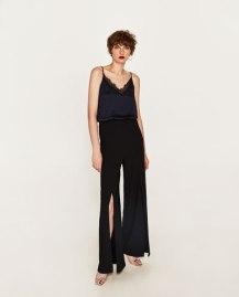 Combi noire dentelle - Zara