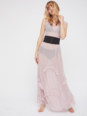 mesh dress rose