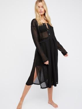 Mesh dress noire